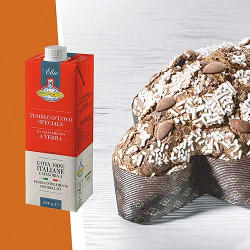 Colomba pasquale creata con il prodotto tuorlo d'uovo speciale della linea Élite di Eurovo Service