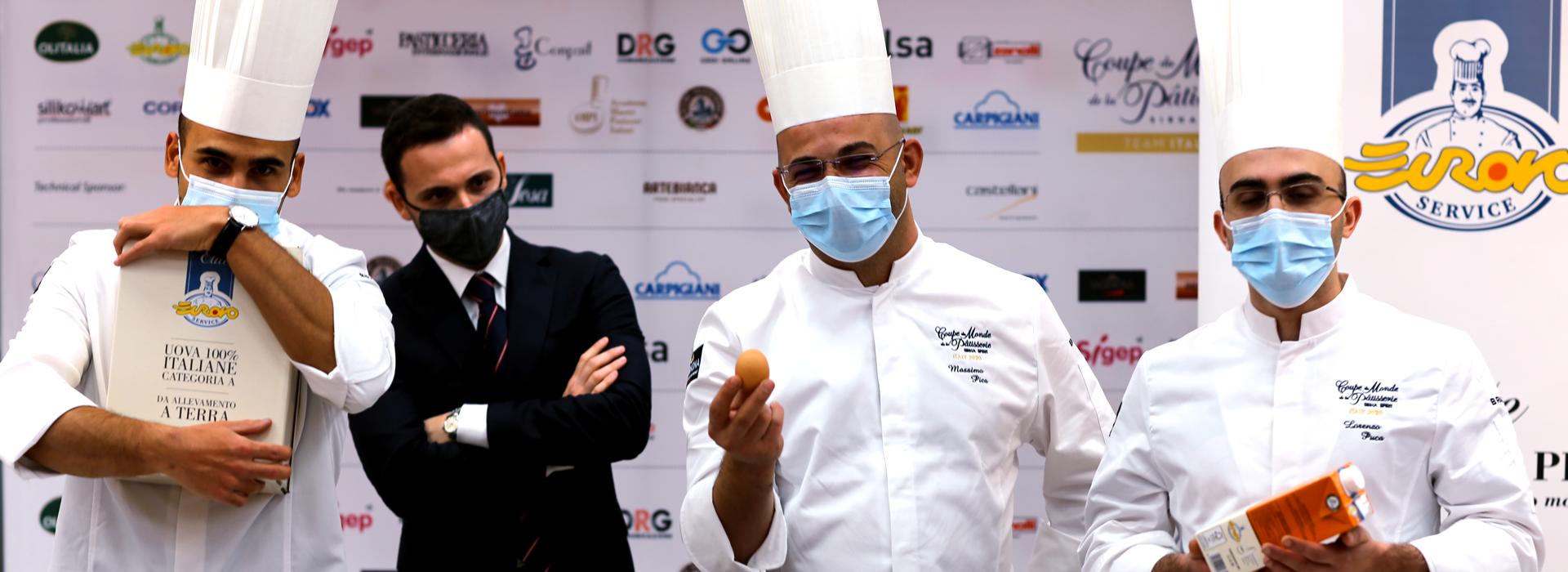 Eurovo Service sostiene la nazionale pasticcieri